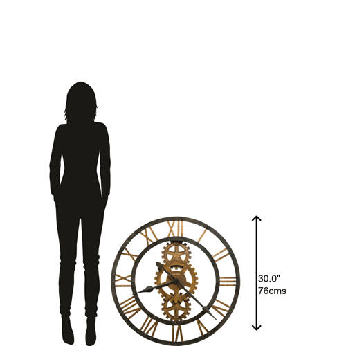 Howard Miller - Howard Miller Crosby Metal Gear Oversized Wall Clock 625517