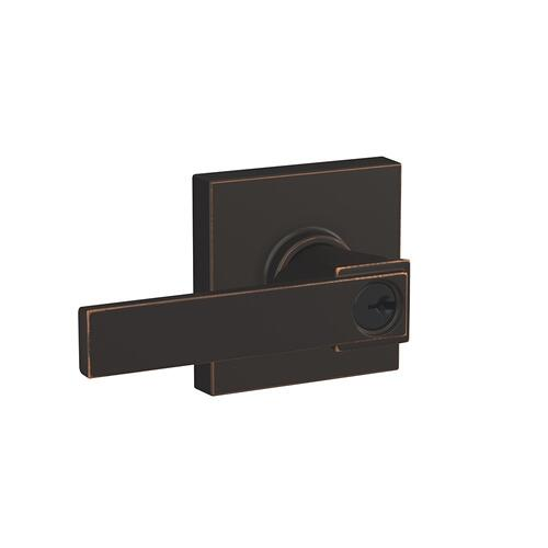 Northbrook lever with Collins trim Keyed Entry lock - Aged Bronze
