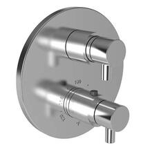 "Biscuit 1/2"" Round Thermostatic Trim Plate with Handle"