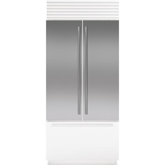Sub-Zero - Stainless Steel Flush Inset Door Panel with Tubular Handle
