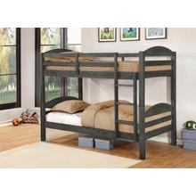 Lily Gray Twin over Twin Bunkbed