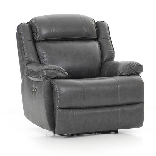 Avalon Dual Power Reclining Chair  Smoke