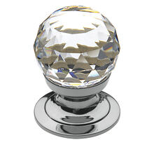 Polished Chrome Swarovski Crystal Cabinet Knob