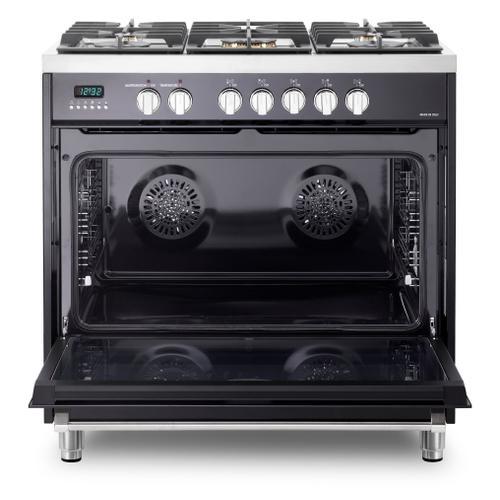 "Gloss Black 36"" Dual Fuel - Designer Series"