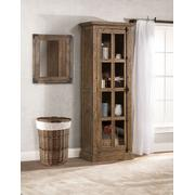 Tuscan Retreat® Tall Single Door Cabinet - Aged Gray Product Image