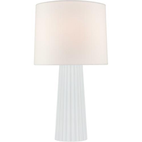 Barbara Barry Danube 29 inch 100 watt White Glass Table Lamp Portable Light, Medium