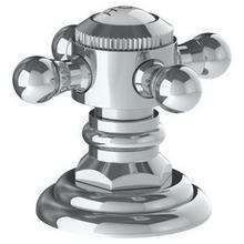 """Trim for Deck Mounted Valve. Porcelain Cross and Lever Buttons Engraved """"hot"""