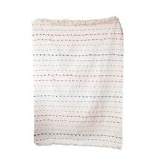 """See Details - 60""""L x 50""""W Cotton Throw w/ Multi-Color Embroidery Loop"""