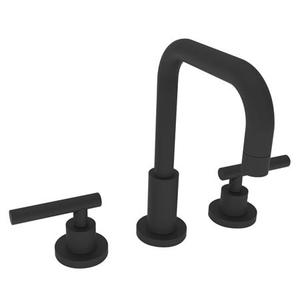 Flat Black Widespread Lavatory Faucet