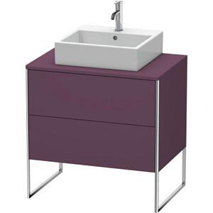 Vanity Unit For Console Floorstanding, Aubergine Satin Matte (lacquer)