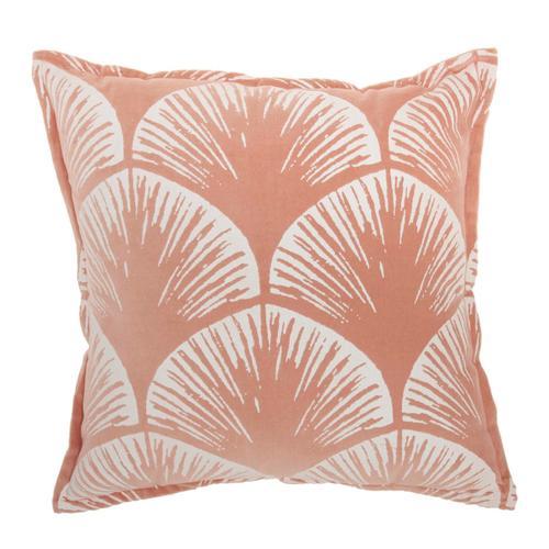 """Life Styles Az009 Coral 18"""" X 18"""" Throw Pillow"""