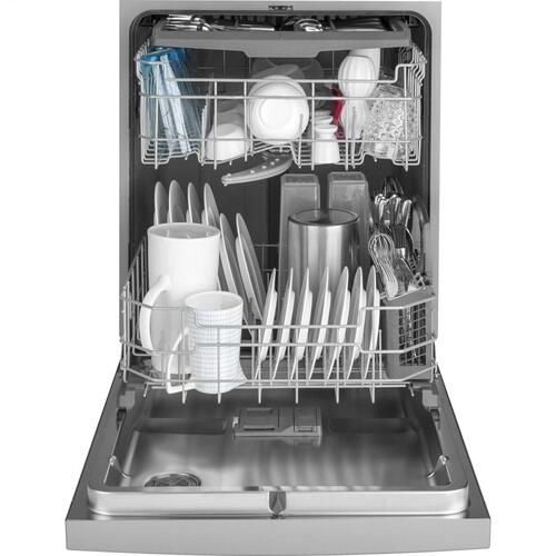 GE Appliances - GE® Front Control with Stainless Interior Door Dishwasher with Sanitize Cycle & Dry Boost