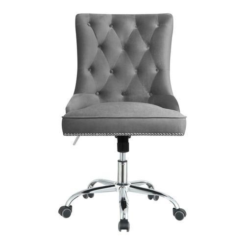 Coaster - Modern Grey Velvet Office Chair