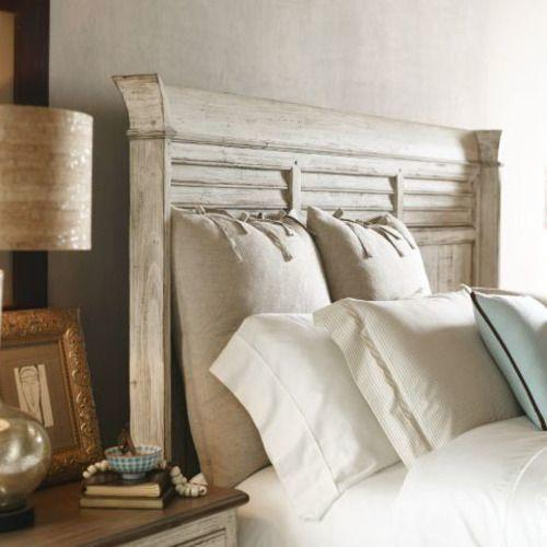 Weatherford Cornsilk Shelter Queen Bed - Complete