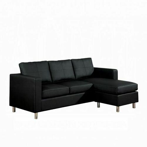 ACME Kemen Sectional Sofa - 15065 - Black PU