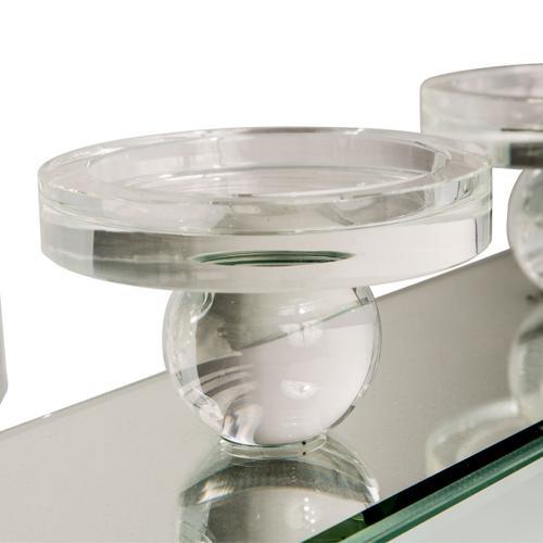 Rectangular Mirror Framed Cahndle Holder 161
