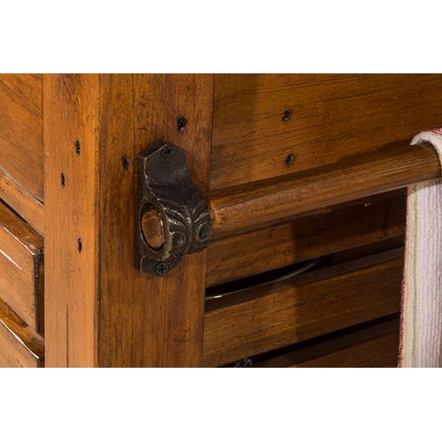 Product Image - Tucan Retreat® Kitchen Island With Adjustable Shelf and 3 Drawers - Antique Pine