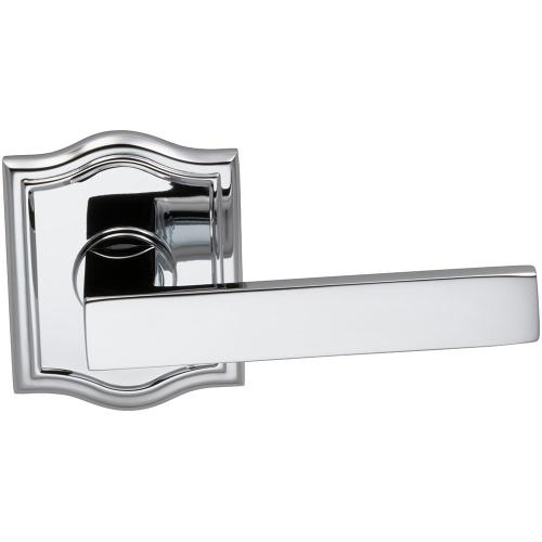 Interior Modern Lever Latchset with Arched Rose in (US26 Polished Chrome Plated)