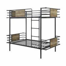 ACME Deliz Twin/Twin Bunk Bed - 38130 - Industrial - Metal, MDF - Gunmetal