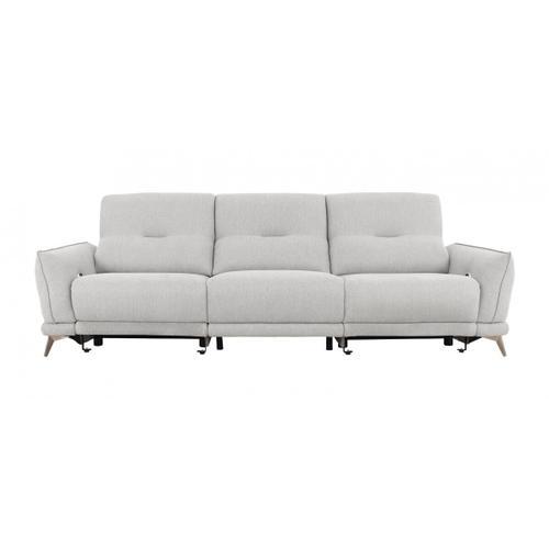 VIG Furniture - Divani Casa Austria - Modern Grey 4-Seater Fabric Sofa w/ Electric Recliners