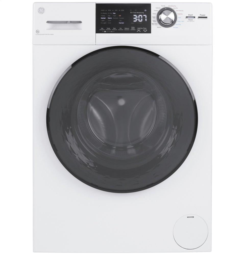 """GE24"""" 2.4 Cu. Ft.Capacity Front Load Washer/condenser Dryer Combo"""
