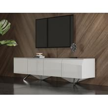 See Details - Modrest Columbia - Modern White TV Stand