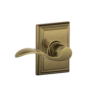 Accent Lever with Addison trim Hall & Closet Lock - Antique Brass Product Image