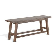 See Details - Counter Height Bench, Wood Seat
