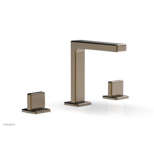 "MIX Widespread Faucet - Blade Handle 6-3/4"" Height 290-01 - Antique Brass"
