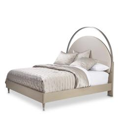 Queen Upholstered Bed W/lights (3 Pc)