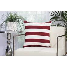"Outdoor Pillows As216 Red/white 20"" X 20"" Throw Pillow"