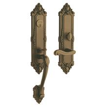 View Product - Satin Brass and Brown Kensington Entrance Trim