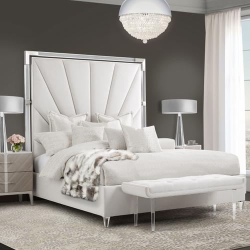 Amini - Cal King Channel-tufted Upholstered Bed (3 Pc) - No Canopy