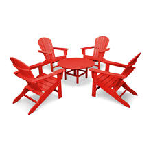 Sunset Red South Beach 5-Piece Conversation Group