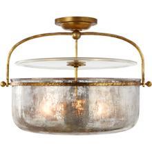 View Product - E. F. Chapman Lorford 3 Light 20 inch Gilded Iron Semi-Flush Lantern Ceiling Light, Medium