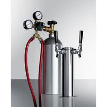 Dual Tap Tapping Equipment With Co2/nitrogen Tank To Serve Wine From Most Kegerators