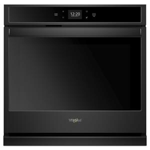 4.3 cu. ft. Smart Single Wall Oven with Touchscreen - BLACK