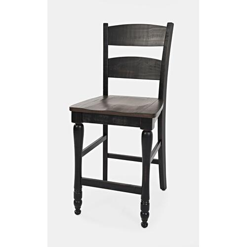 1702-BS401KD Madison County Ladderback Counter Stool