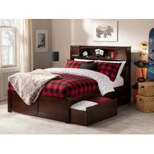 Newport Full Flat Panel Foot Board with 2 Urban Bed Drawers Walnut