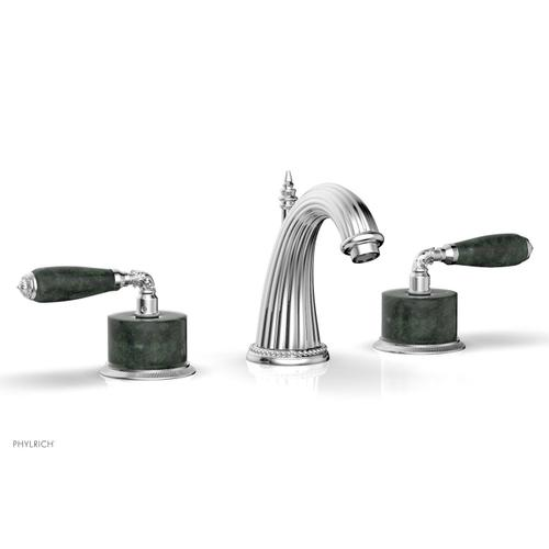VALENCIA Widespread Faucet Green Marble K338F - Polished Chrome