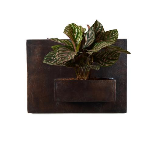 Ozur Rectangle Wall Planter-antique Rust