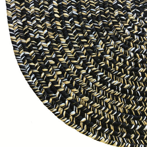 Team Spirit Black Old Gold Braided Rugs
