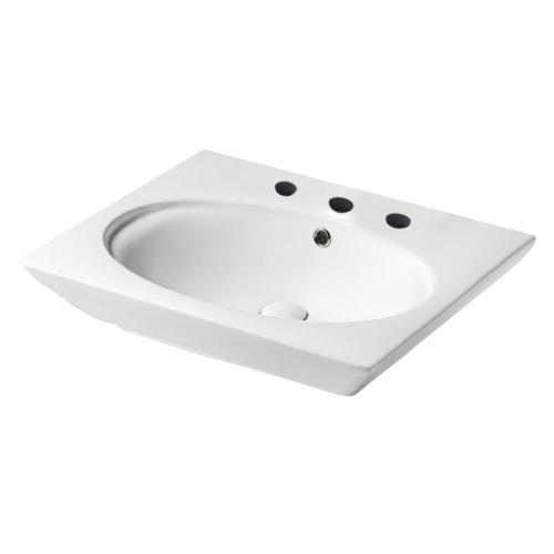 """Opulence Wall-Hung Basin - """"Hers"""" - 8"""" Widespread"""