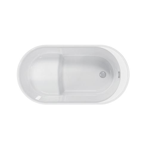 """Onyx 56"""" Acrylic Tub with Integral Drain and Overflow - Polished Nickel Drain and Overflow"""