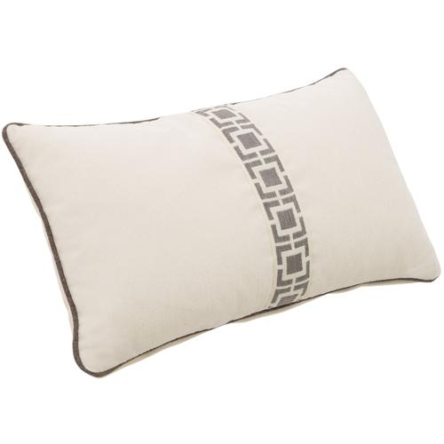 Accent Pillow Kidney Pillow with Center Tape & Welt