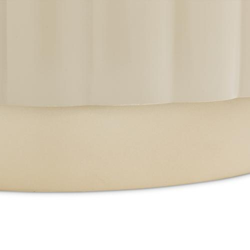 Round Chairside Table Chardonnay