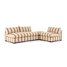 W/ Corner Table Configuration Zella Amber Cover Grant Sectional W/ Chair + Tables