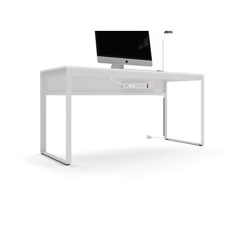 BDI Furniture - Linea 6223 Work Desk in Smooth Satin White