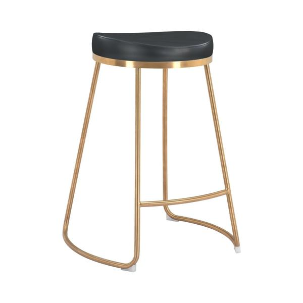 See Details - Bree Counter Stool Black & Gold