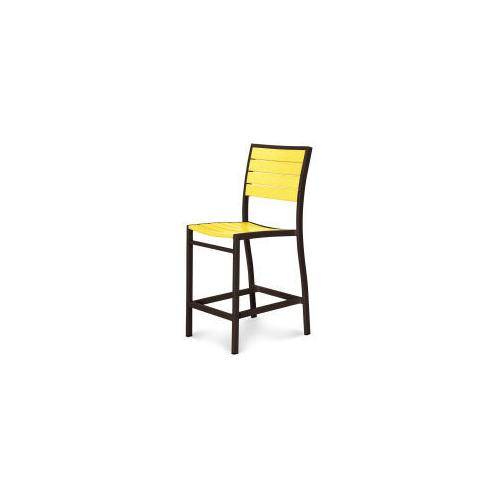 Polywood Furnishings - Eurou2122 Counter Side Chair in Textured Bronze / Lemon